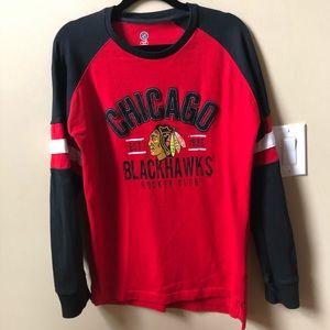 Men's Chicago BlackHawks long sleeve shirt